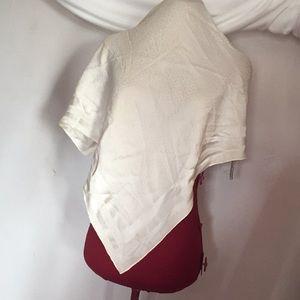 Christian Dior cream color silk scarf